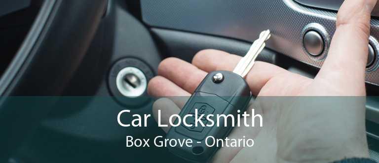 Car Locksmith Box Grove - Ontario
