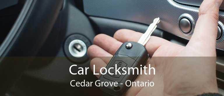 Car Locksmith Cedar Grove - Ontario