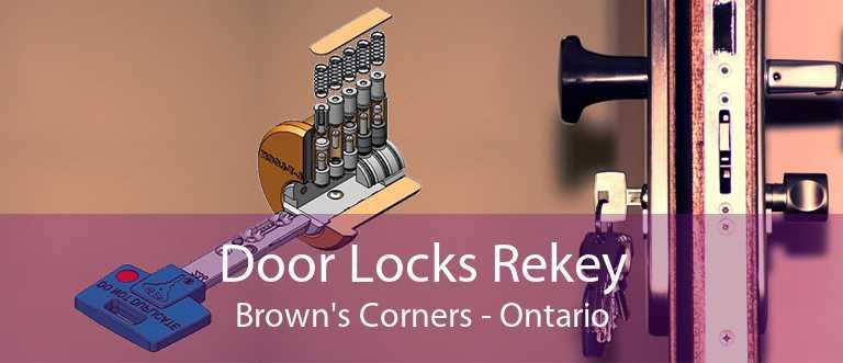 Door Locks Rekey Brown's Corners - Ontario