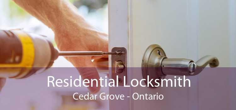 Residential Locksmith Cedar Grove - Ontario